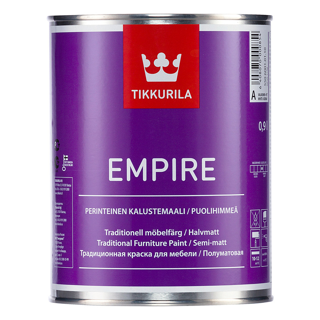 EMPIRE (Эмпире)  – алкидная краска для мебели.  База А  0,225 л