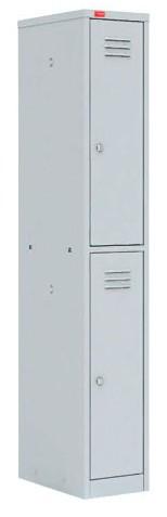 Шкаф для одежды односекционный на две ячейки (300х500х1860) арт. ШРМ12