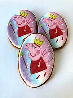"Медовый пряник ""Свинка Пеппа"" (шаблон 15 №9, размер 8,5 см х 5,5 см)"