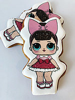"Медовый пряник ""Кукла LOL""3-2 (размер 12 см х 7 см)"