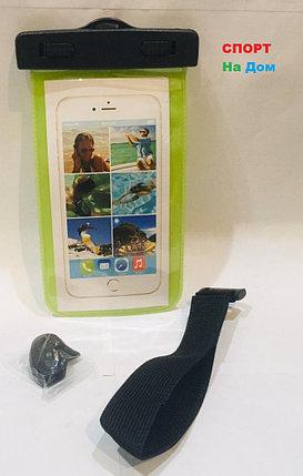 Водонепроницаемый чехол сумка для телефона на руку, на шею (цвет зеленый), фото 2