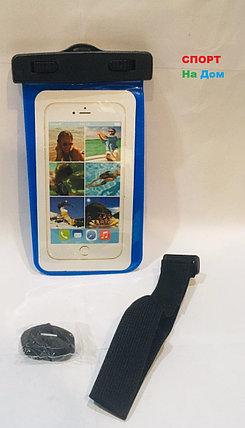 Водонепроницаемый чехол сумка для телефона на руку, на шею (цвет синий), фото 2