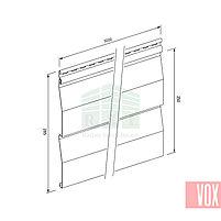 Сайдинг виниловый VOX SV-01 Unicolor (серый), фото 2