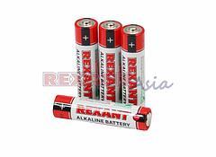 Батарейки AAA, LR03, 1,5 V, 1200 mAh, мизинчиковые (30-1012), REXANT