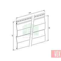 Сайдинг виниловый VOX VSV-03 Vilo (светло-серый), фото 2