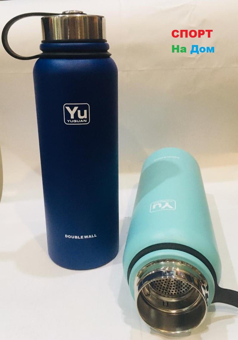 Термос для горячих напитков 1100 мл (цвет синий)