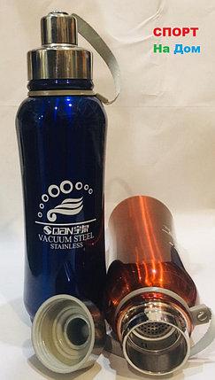 Термос для горячих напитков 800 мл (цвет синий), фото 2
