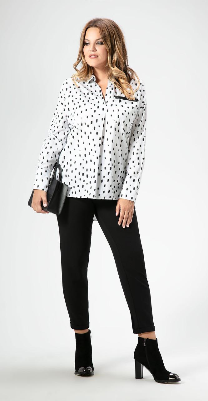 Блузка Panda-456740, бело-черный, 48