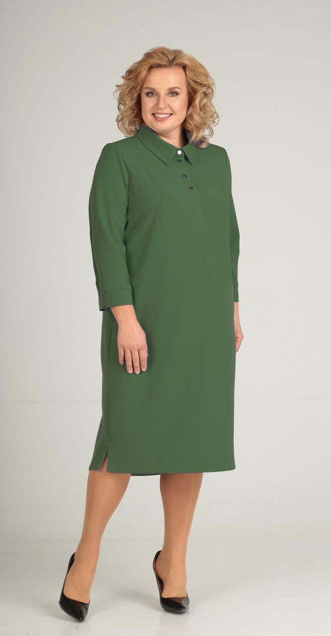 Платье Elga-632/1, зелень, 54