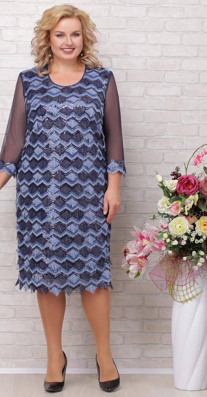 Платье Aira Style-659, синий, 54