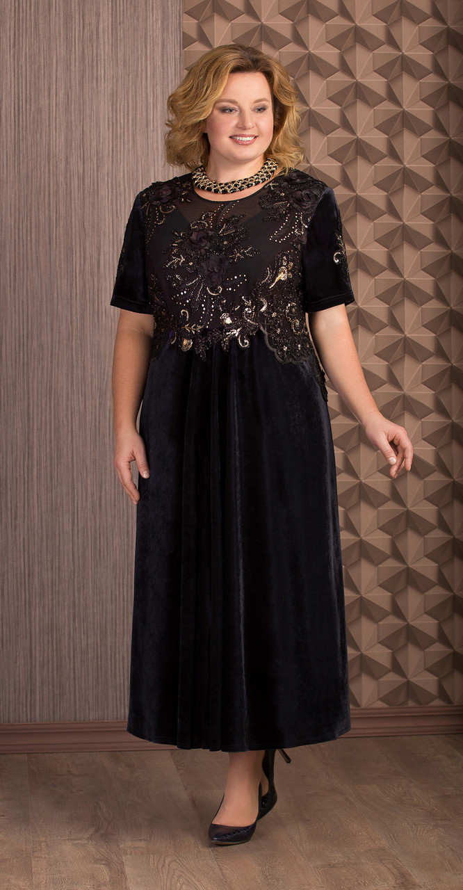 Платье Aira Style-651, черный, 60