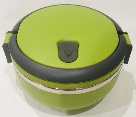 Ланч бокс для еды термос 700 мл зеленого цвета, фото 2