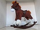 Большая музыкальная лошадка-качалка, фото 2