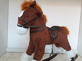 Большая музыкальная лошадка-качалка. Рассрочка. Kaspi RED