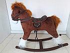 Большая музыкальная лошадка-качалка, фото 5