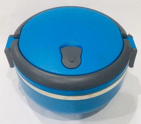 Ланч бокс для еды термос 700 мл (цвет синий), фото 2