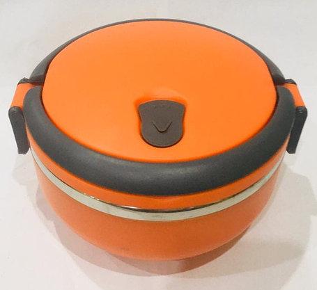 Ланч бокс для еды термос 700 мл (цвет оранжевый), фото 2