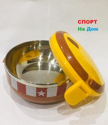 Ланч бокс для еды термос 700 мл (цвет коричневый, миньоны), фото 2