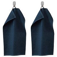Полотенце ВОГШЁН 30х50 темно-синий ИКЕА, IKEA, фото 1