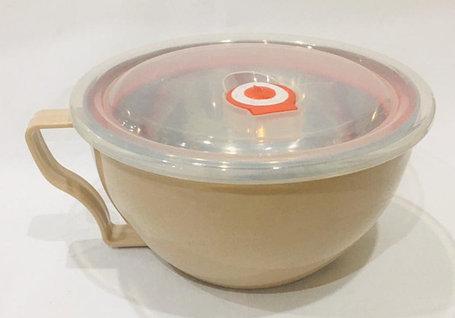 Ланч бокс для еды термос 1000 мл (цвет серый), фото 2