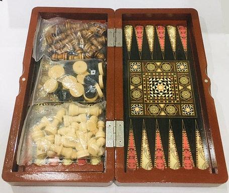 Нарды, шашки, шахматы набор 3 в 1 (мини), фото 2