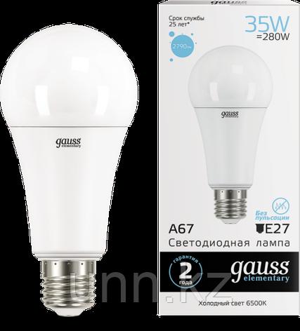 Лампа Gauss LED Elementary A67 35W E27 2790lm 6500K..., фото 2