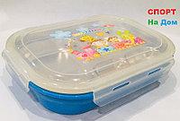 Ланч бокс контейнер для еды детский (цвет синий)