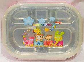 Ланч бокс контейнер для еды детский (цвет желтый), фото 2
