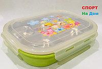 Ланч бокс контейнер для еды детский (цвет зеленый)