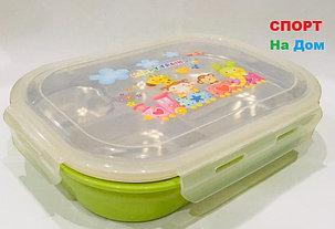 Ланч бокс контейнер для еды детский (цвет зеленый), фото 2