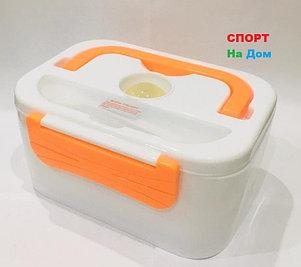 Автомобильный ланч бокс контейнер для еды с подогревом (цвет оранжевый), фото 2