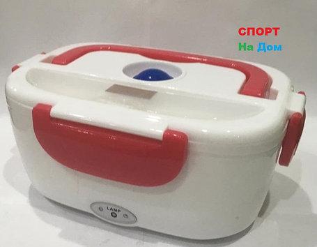 Ланч бокс контейнер для еды с подогревом (цвет красный), фото 2