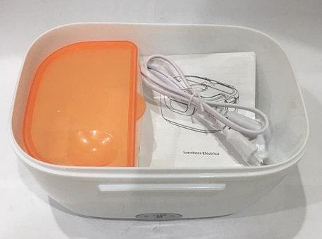 Ланч бокс контейнер для еды с подогревом (цвет голубой), фото 2
