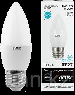 Лампа Gauss LED Elementary Candle 8W E27 4100K 1/10/50