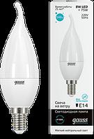 Лампа Gauss LED Elementary Candle tailed 8W E14 4100K 1/10/50