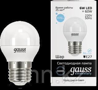 Лампа Gauss LED Elementary Globe 6W E14 6500K 1/10/100, фото 2