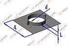Площадка сквозная с хомутом (430, t1,5) D210+7, А410*В410,L=50, фото 2