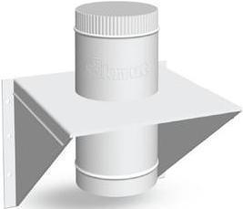 Крепление опорное Моно(430, t0.5)(пластина Оц-1,5мм) d200,А300*В300, L400(Раструб)