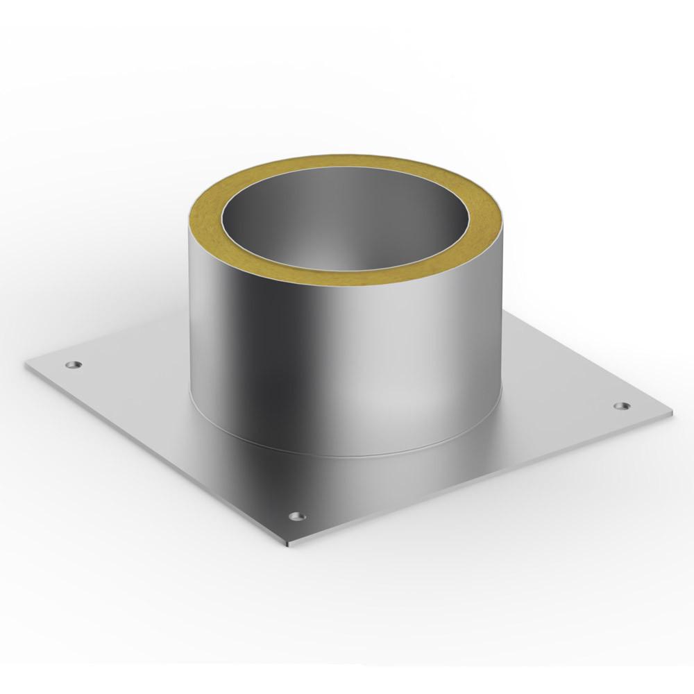Потолочная разделка Термо тип 1 (ОЦ, t0,5 / 430,t0.5) d140+7 / Dнар340/Dвн280. А500хВ500, L240
