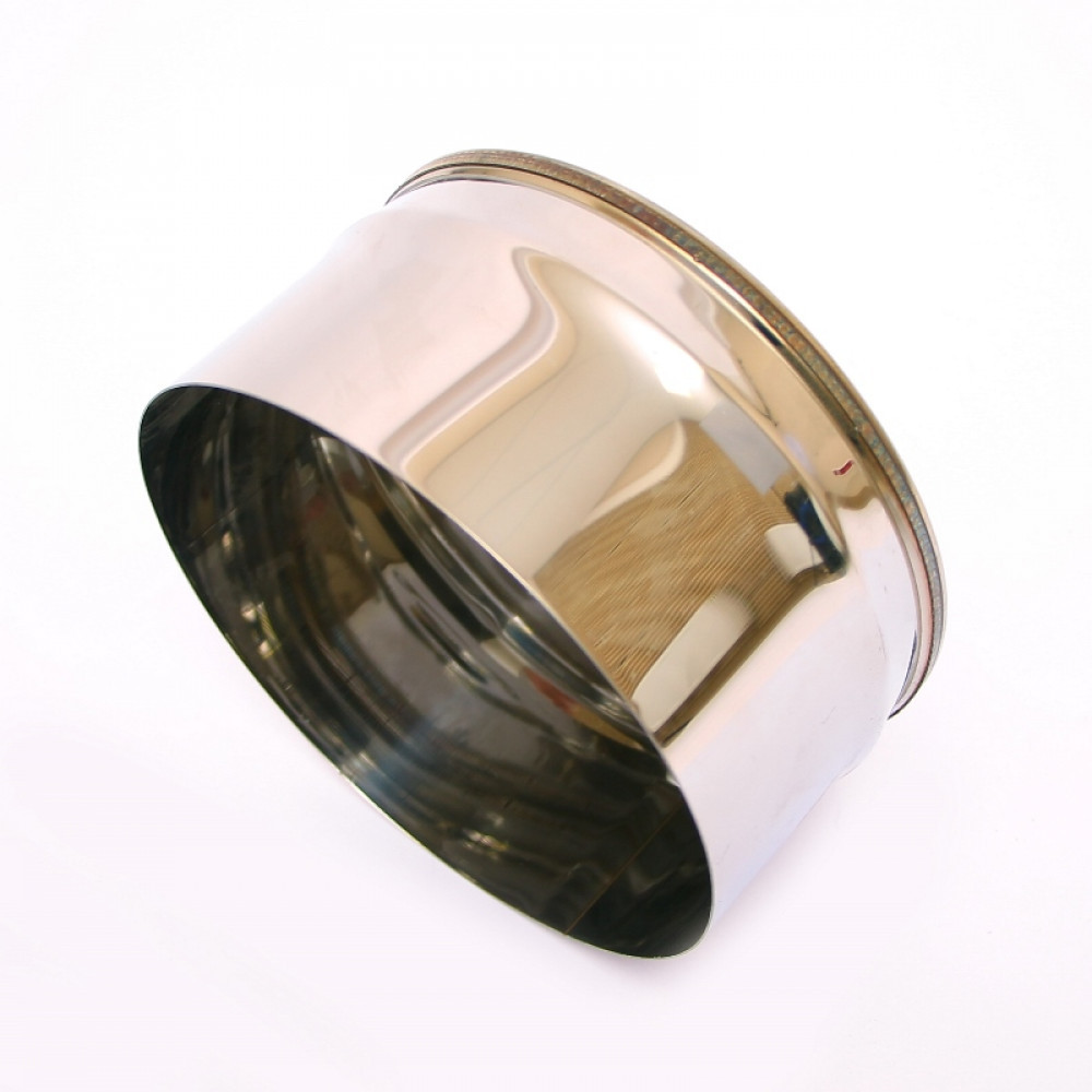 Заглушка Моно с конденсатоотводом тип1(430, t0.5) d200 L100 (раструб.по дыму)
