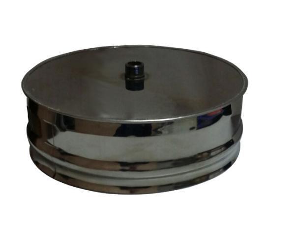 Заглушка Моно с конденсатоотводом тип1(430, t0.5) d210 L100 (РАСТРУБ, по дыму)