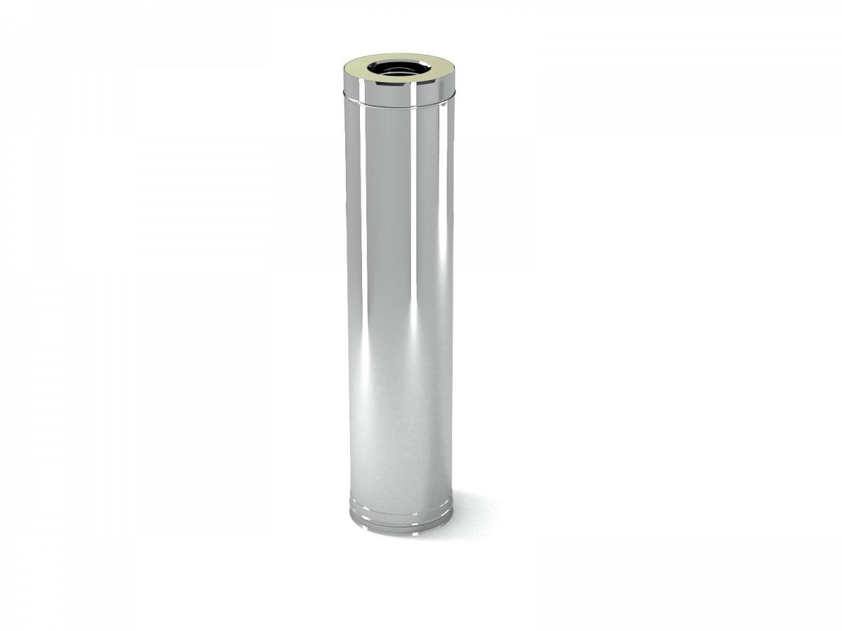 Труба Термо (430, t0,5 / 430, t0,5) d100 / D200 L1000 (РАСТРУБ.)