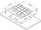 Газовая варочная поверхность DeLuxe 5840.00гмв-009 с чугунной решеткой, фото 2