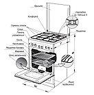 Газоэлектрическая плита Gefest ПГЭ 6502-02 0045, фото 3