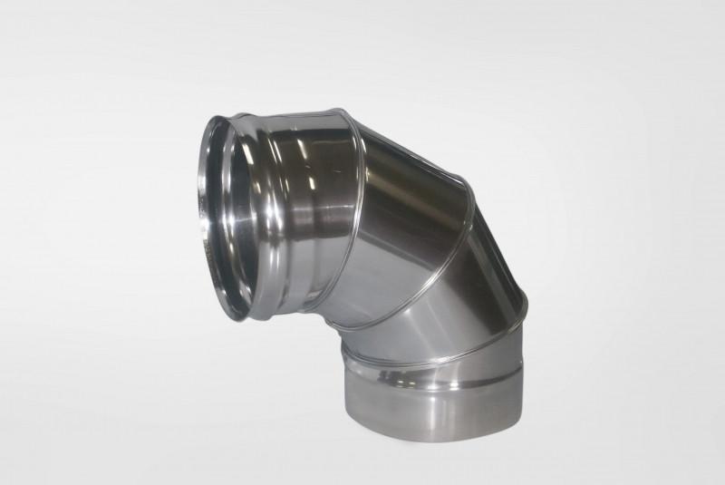 Отвод Моно (430, t0.5) 90º, d100 (Раструб)