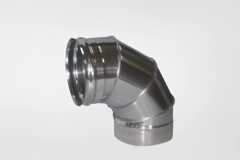 Отвод Моно (430, t0.5) 90º, d180 (Раструб)
