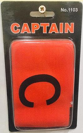 Капитанская повязка на руку футболисту Captain (цвет красный), фото 2