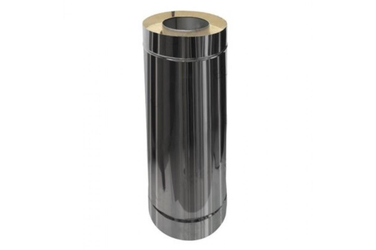 Труба Термо (430, t0,5 / 430, t0,5) d100 / D200 L500 (РАСТРУБ.)