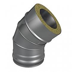 Отвод Термо (430, t0.5/430, t0.5) 45º, d100/D200(Раструб)
