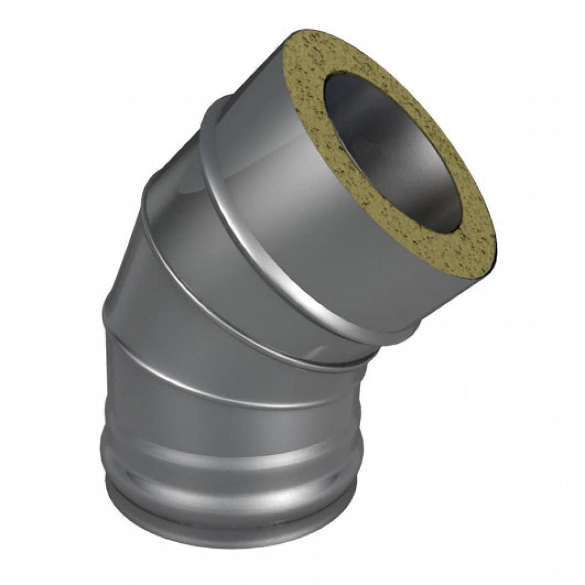 Отвод Термо (430, t0.5/430, t0.5) 45º, d130/D200(Раструб)